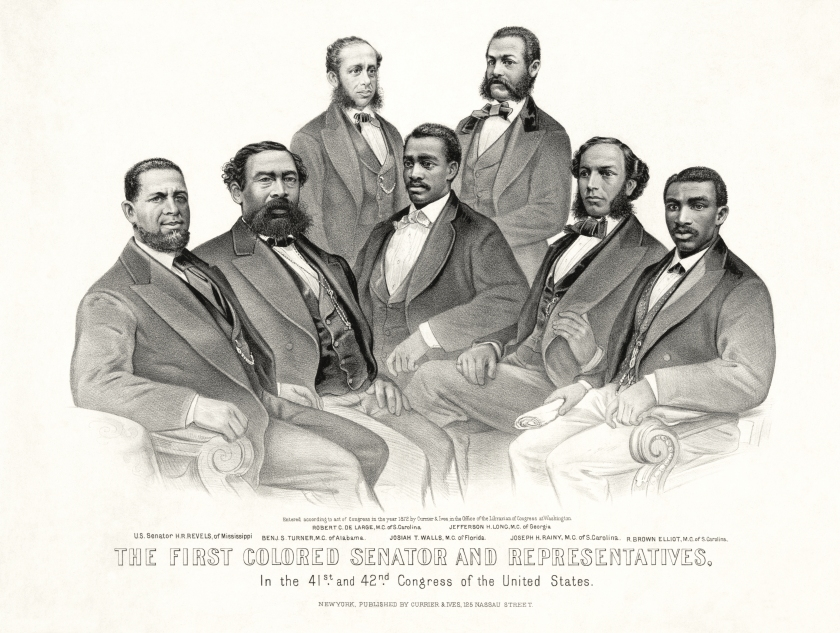 The first black congressmen in the United States.